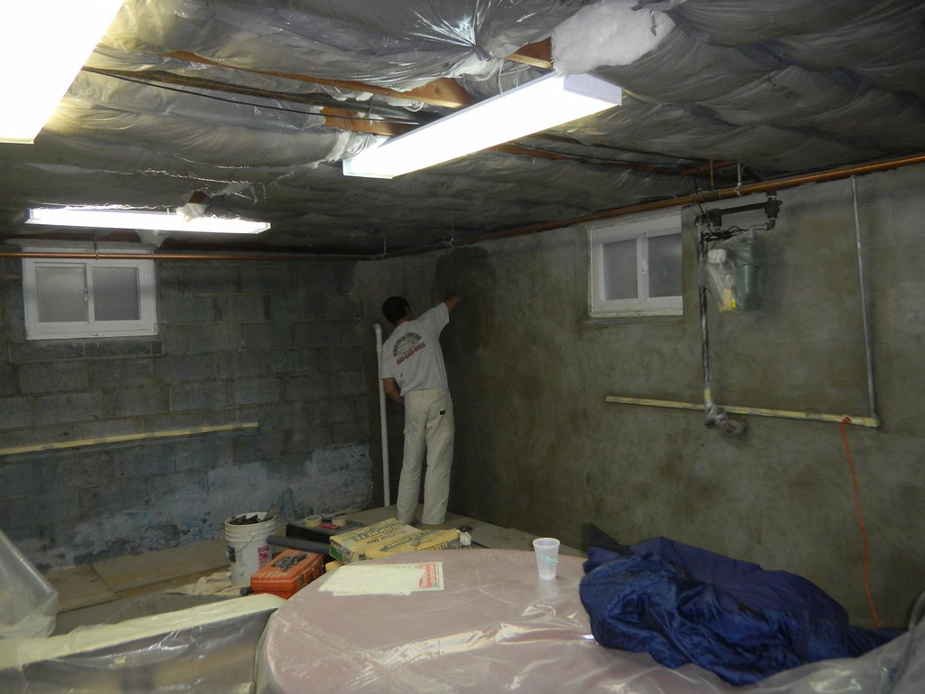 process of crawlspace encapsulation in a home